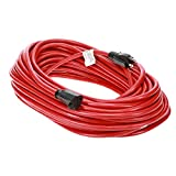 Otimo 100 Ft 12/3 SJTW Red, Heavy Duty Outdoor Extension Cord - 3 Prong Ground Plug, 15A 1875W, Water & Weather Resistant, Flame Retardant