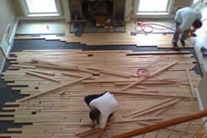 install wood tile