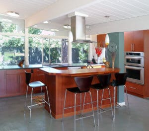 mid century modern-kitchen island