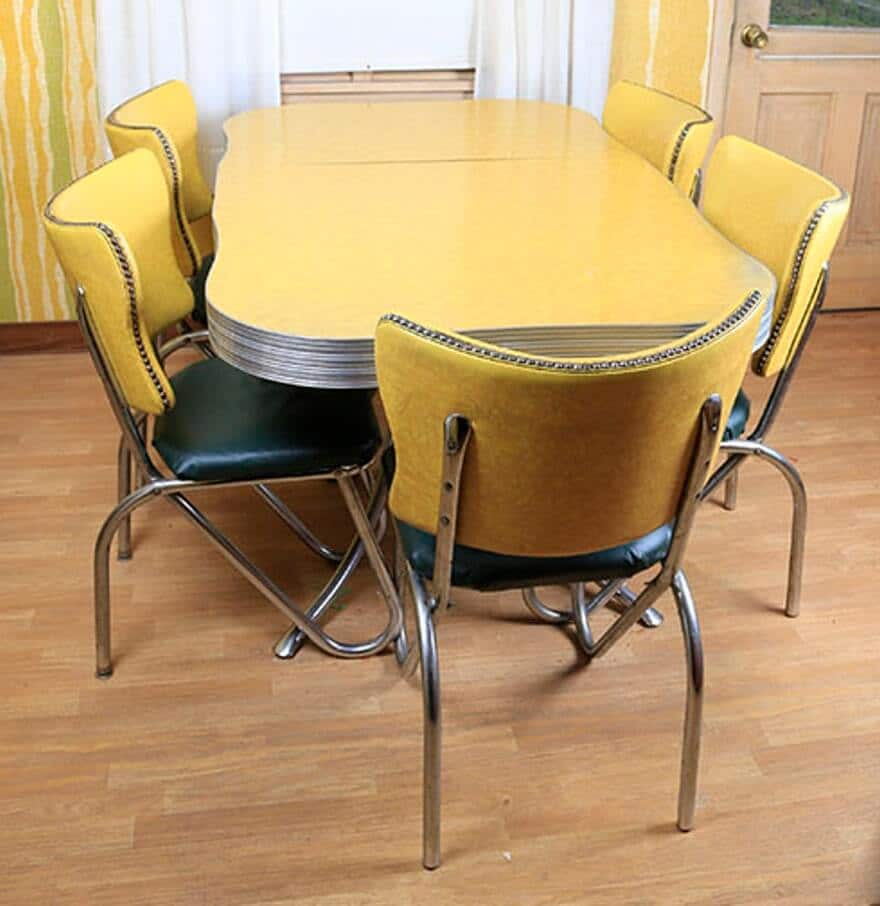 mid century modern kitchen table