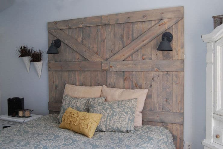 Get Creative with your Headboard and the Walls Around it