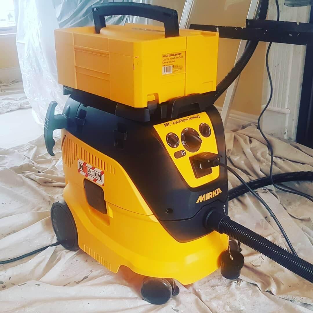 vacuum sander on hardwood floors