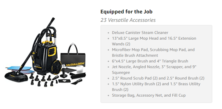 McCulloch MC1385 accessories