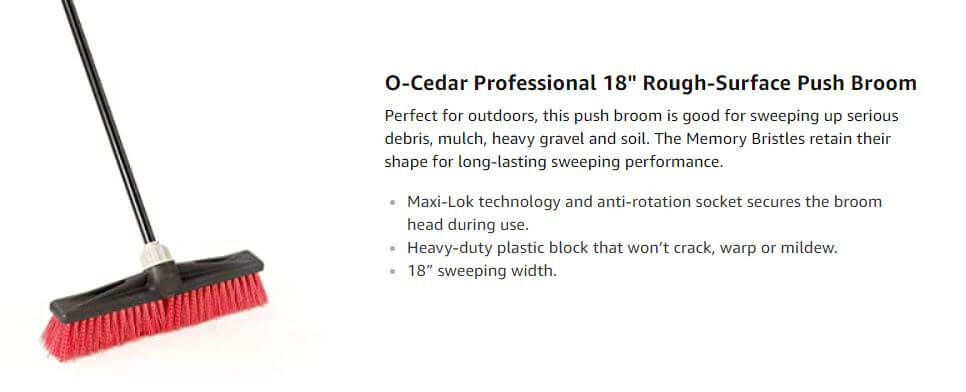 O-Cedar Professional 18 Rough-Surface Push Broom