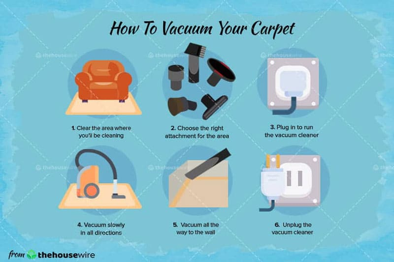 Steps for Vacuuming Your Carpet