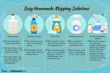 5 Easy Homemade Mopping Solutions