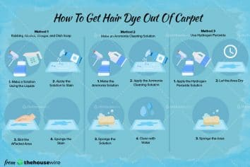 3 Simple Ways to Get hair dye Out of Carpet