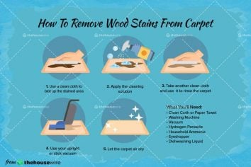 How to Remove Wood Stains From Carpet