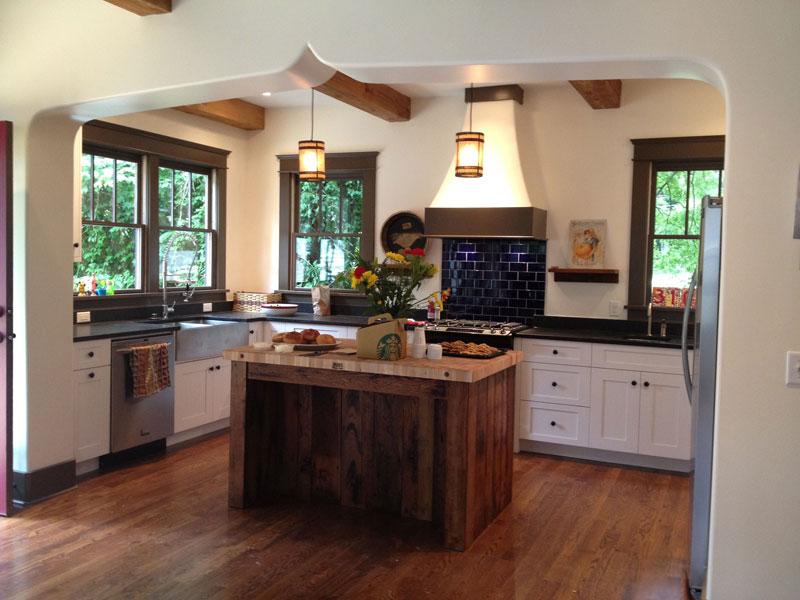Reclaimed Barn Wood Kitchen Islands